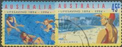 AUS SG1443-4 Centenary of Organised Life Saving in Australia self-adhesives set of 2 singles